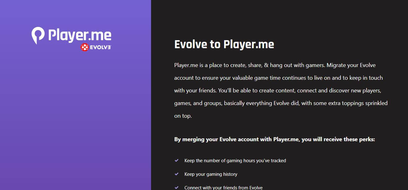 Evolve to Player.me